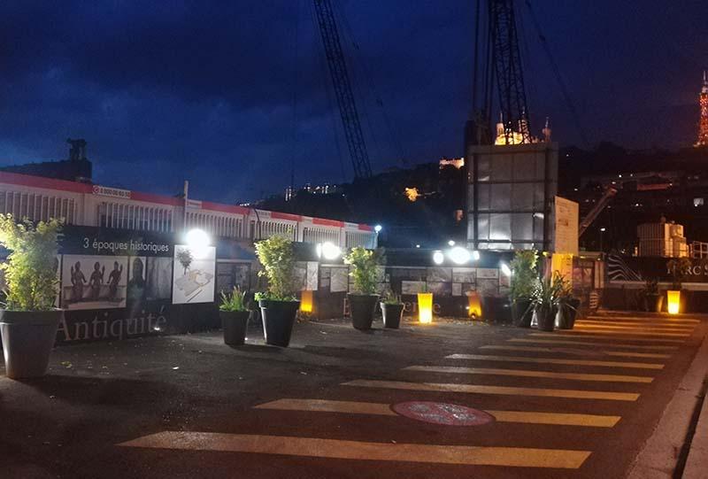 aménagement du parking de nuit