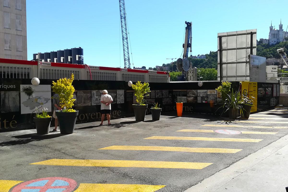 aménagement du parking LPA de jour