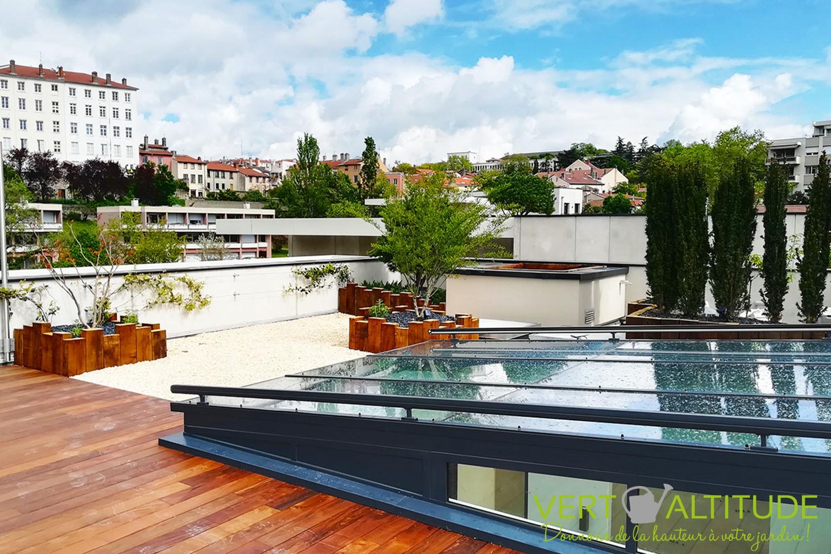 solarium sur un rooftop en terrasse à Lyon