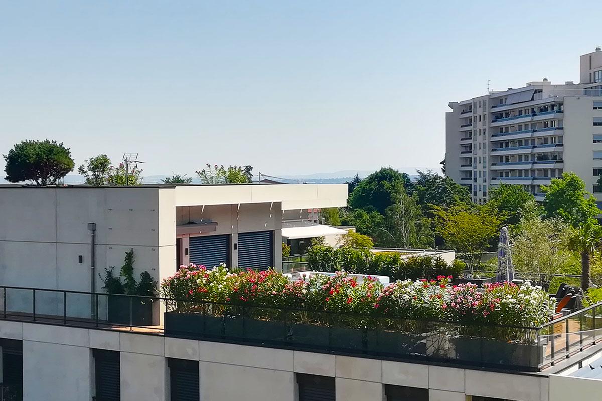 terrasse pour Lugdunum fleurie par un paysagiste
