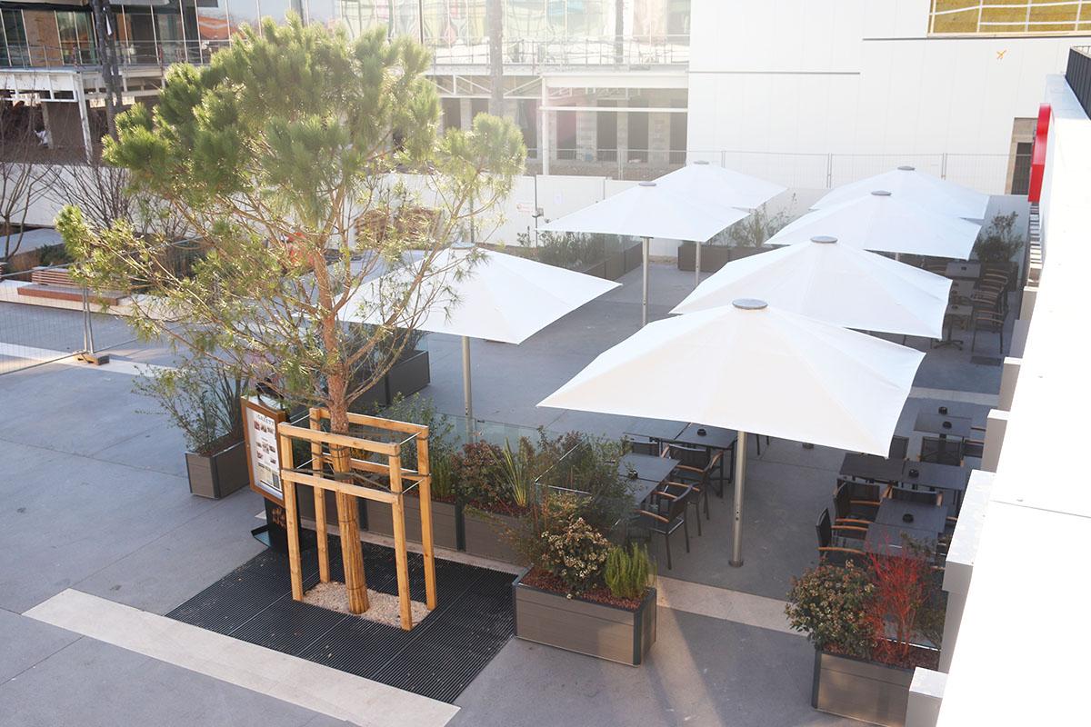 terrasse végétalisée pour un restaurant 3 brasseurs - paysagiste
