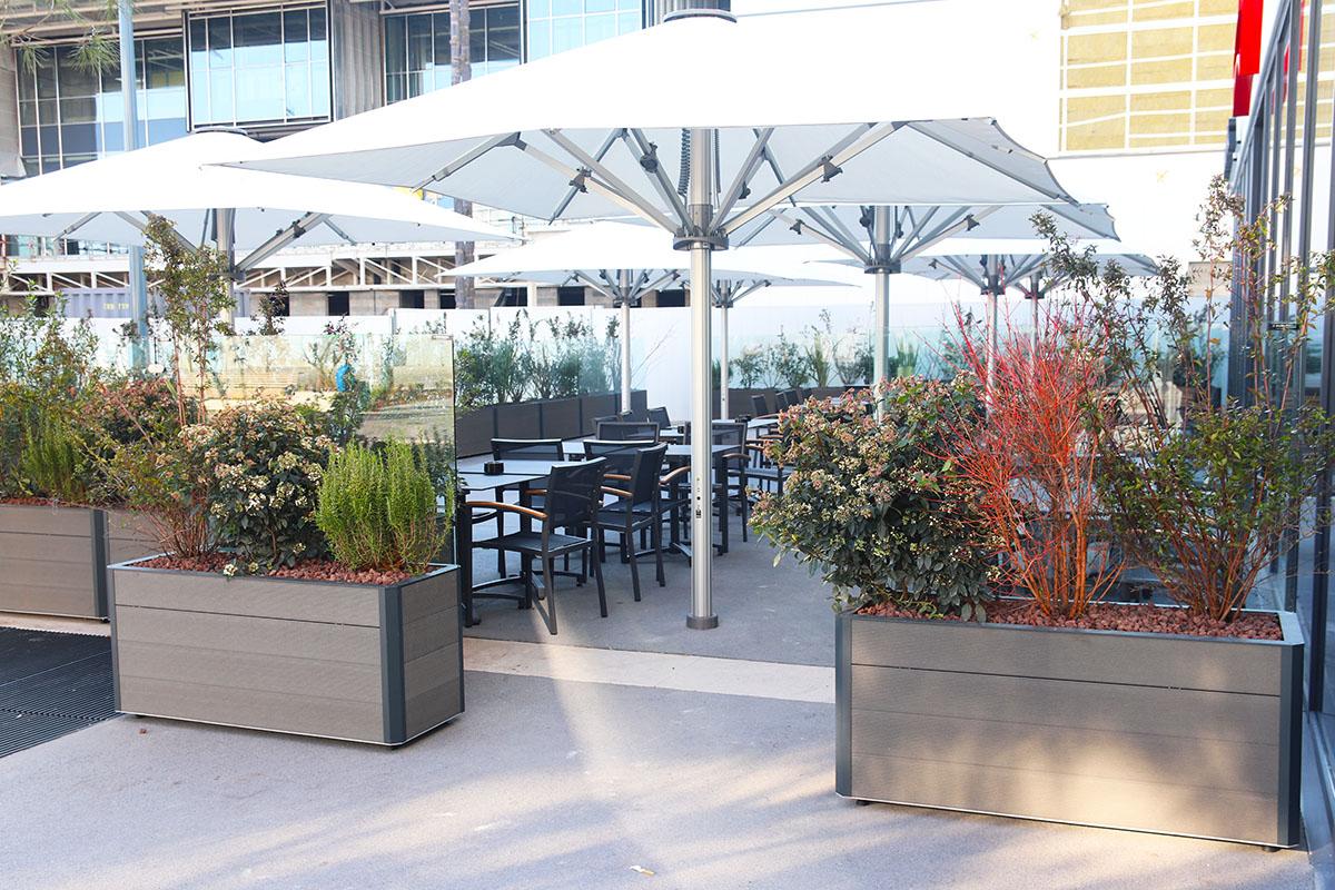 terrasse végétalisée pour les 3 brasseurs à Lyon