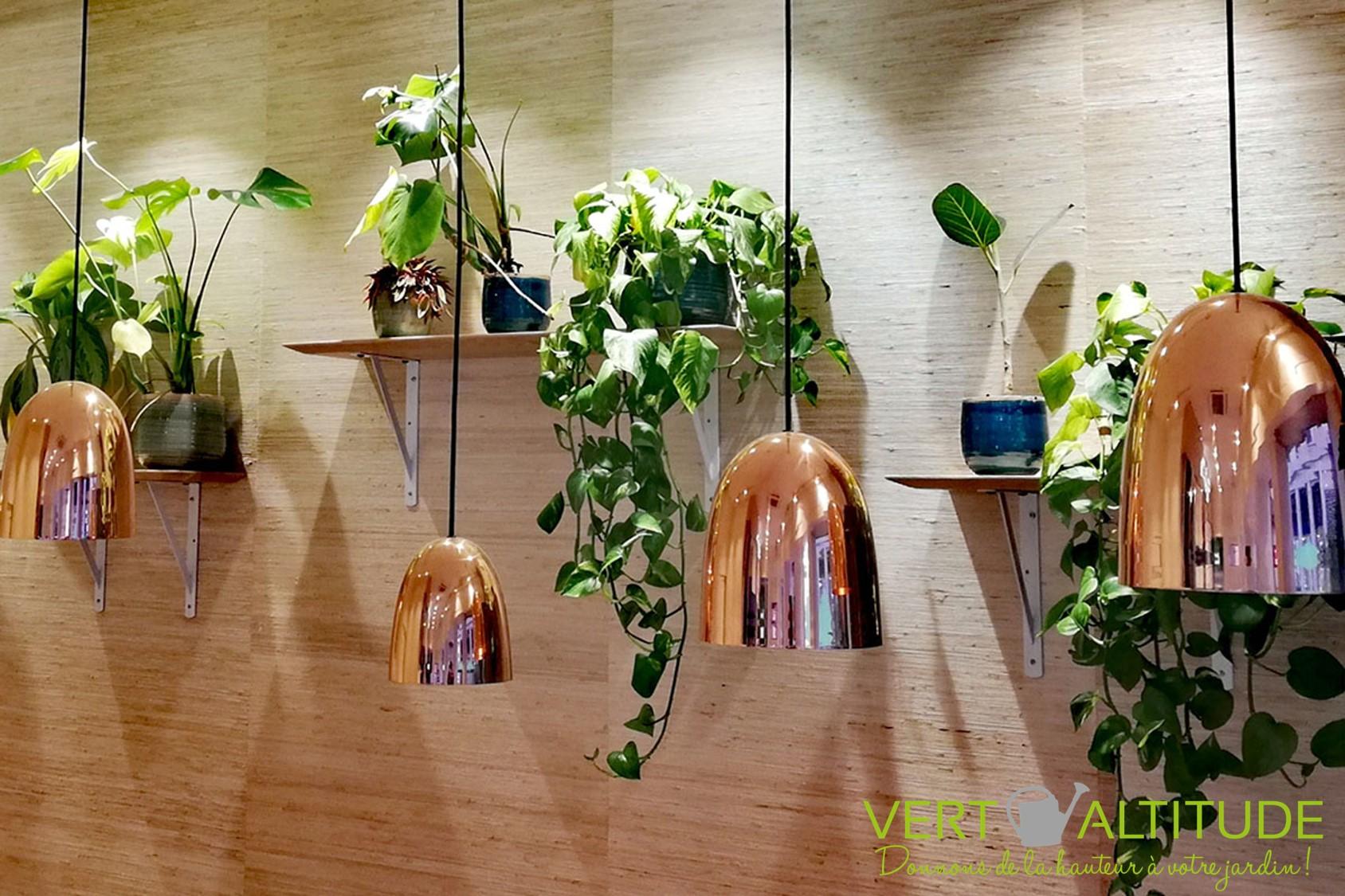 végétalisation d'un bar à salades Lyon paysagiste
