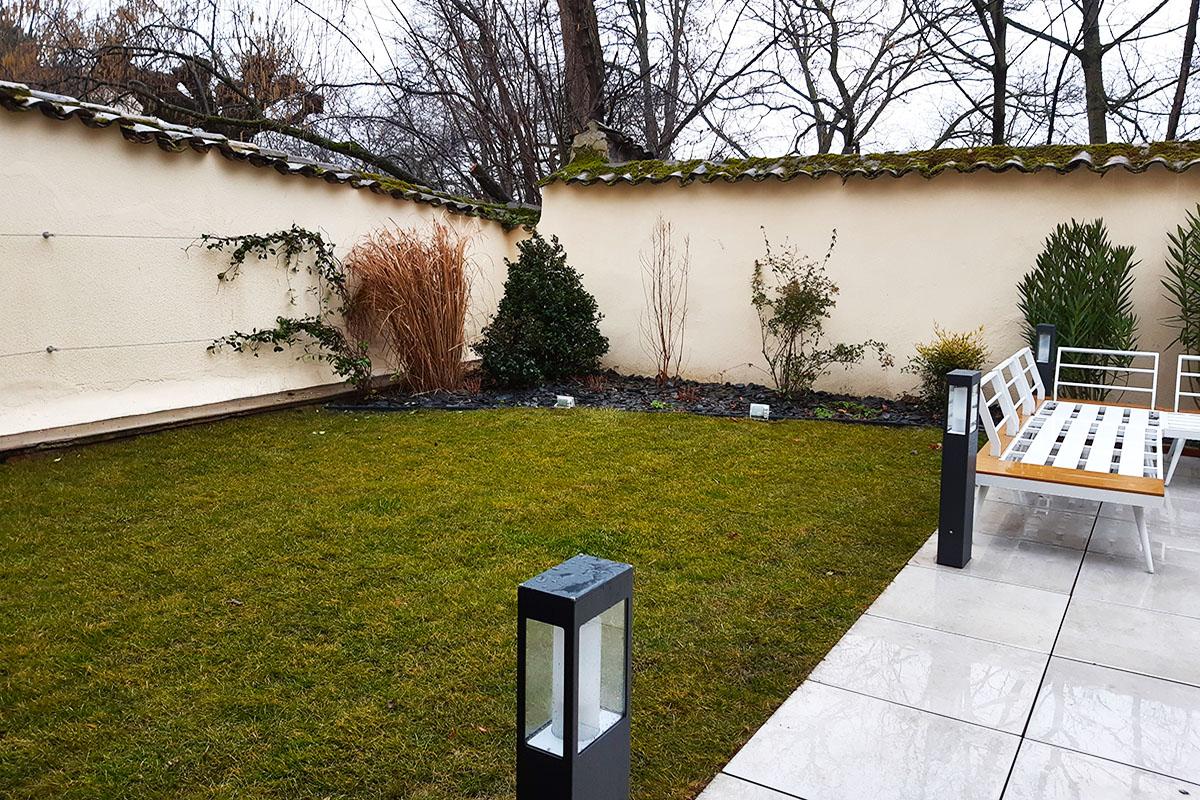 terrasse en home staging Lyon
