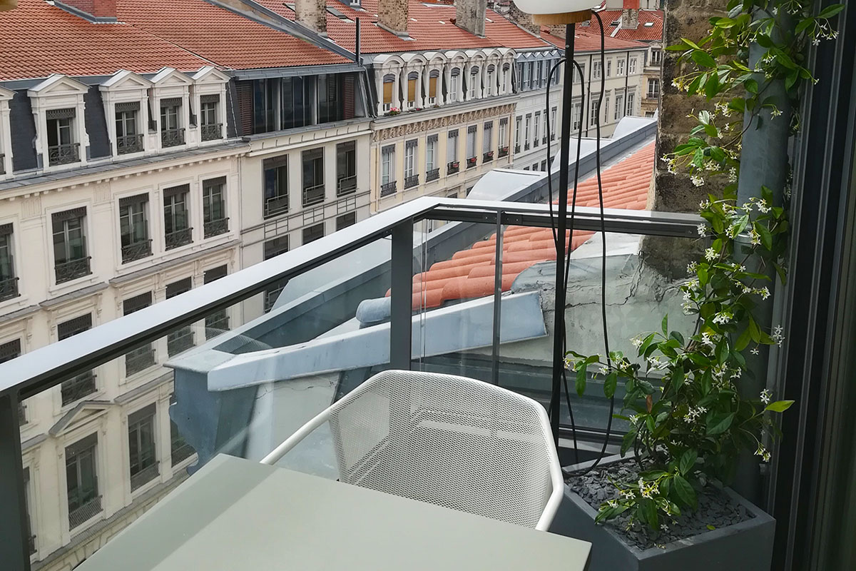 rooftop pour un hôtel restaurant Nô à Lyon