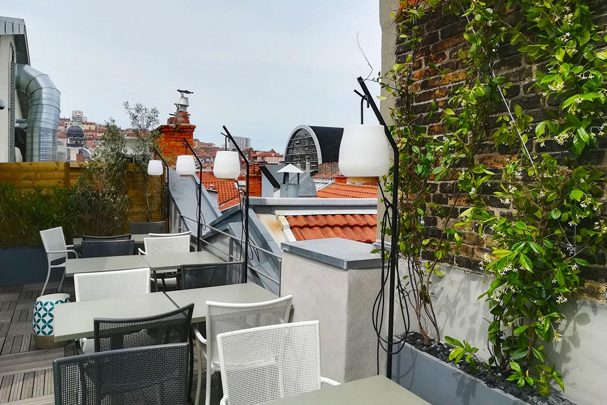 rooftop pour un hôtel